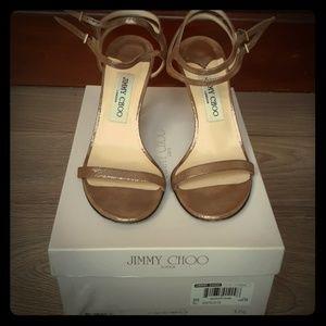 Jimmy Choo Londo strappy Brown glitter sandals 37.